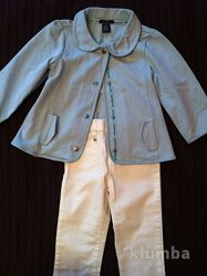 Стильный комплект, курточка, джинсы, Calvin Klein, 4Т, новое состояние