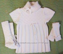 Тепленькое платье-туника на 2-3года