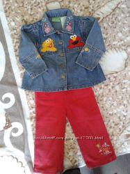 Sesame street gymboree джинсовая куртка джинсы