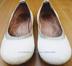 Garvalin Испания кожаные балетки белые для девочек 34 размер