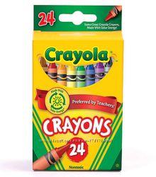 Цветные восковые карандаши мелки Крайола 24