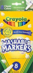 Фломастеры маркеры Крайола Crayola 8 смываемые