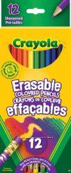 Карандаши Crayola Крайола 12 штук резинка для вытирания