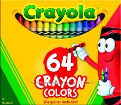 Цветные карандаши восковые мелки Crayola 64, 96, 120 цвета