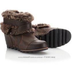 Зимние сапоги Sorel Joan of Arctic wedge ankle boots - 8, 5 US - оригинал