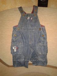 комбинезон джинсовый  M&Co 3-6мес.
