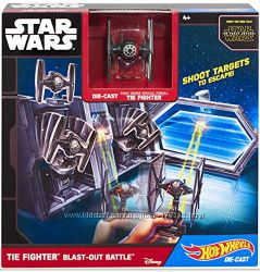 Набор Hot Wheels Star Wars Tie Fighter Blast-out Battle Звездные войны