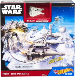 Игровой набор Hot Wheels Star Wars Starship Hoth Echo Base Battle Playset