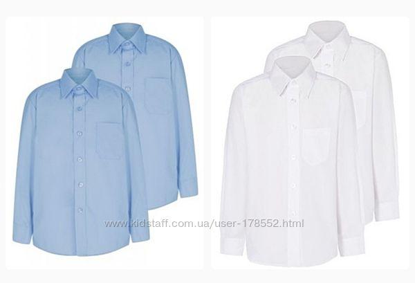 Рубашки для школы Next  Easy Iron  голубая 8 лет, р. 128