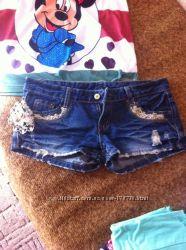 Продам бу джинс и тканевые шортики
