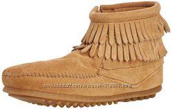 Замшевые ботинки от Minnetonka из США. Стелька 21. 6см