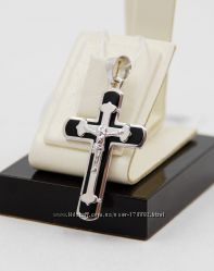 Серебряный крест 925 каучук большой выбор