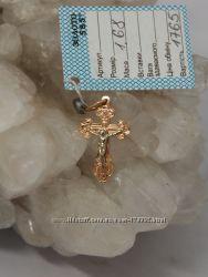 Золотой крестик большой выбор
