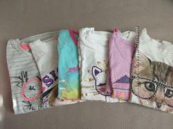 Пакет брендовых футболочек  комплект все в идеале 4-5 лет