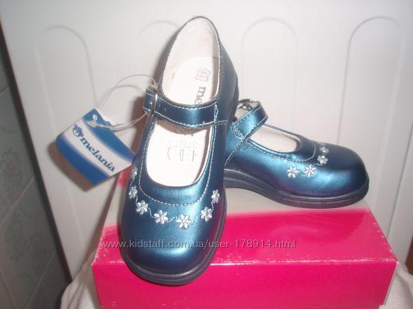 Нарядные туфли для девочки кожа новые   Melania Италия   25 размер