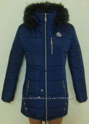 Женская молодежная зимняя  длинная куртка