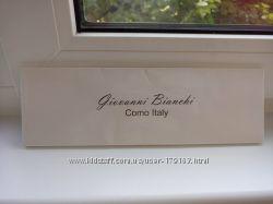 легкий узкий шарфик Giovanni Bianchi с бахромой