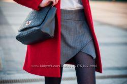 Асимметричные шорты серые в полоску, размер S