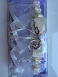 Подвязка, цвет айвори