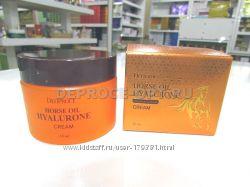 Крем для лица с лошадиным жиром и гиалуроновой кислотой DEOPROCE Horse Oil