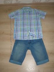 Мальчиковые шорты и рубашка