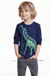 H&М реглан с динозавром 8-10л