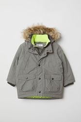 Куртка Парка еврозима на мальчика HM на 2года 92см Серая