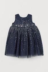 Детские нарядные платья на девочек в наличии  HM и  SMYK  Carters