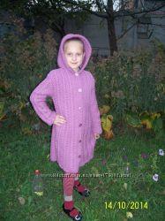 Образец Свяжу на заказ пальто  для девочки