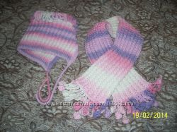 Продам шапочка и шарф, свяжу на заказ