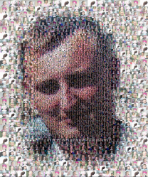 Портрет на холсте, мозаика