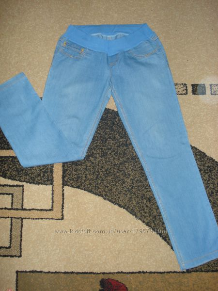 Лёгкие джинсы для беременных