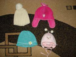 Демисезонные и зимние шапочки для девочки от 0 до 4 лет