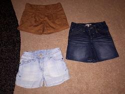 Джинсовые шорты для девочки ТМ Next от 6 до 8 лет