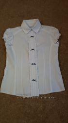Школьная белая блузка ТМ Sly на рост 134