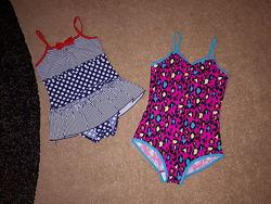 Сдельные купальники для девочки от  6 до 8 лет