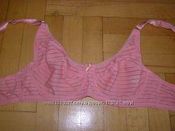 Кораллово-розовый лифчик в полоску 80 С