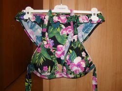 Очень красивый купальник, орхидеи, гибискус, 75 В-С, разм. М