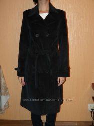 элегантное осеннее вельветовое пальто