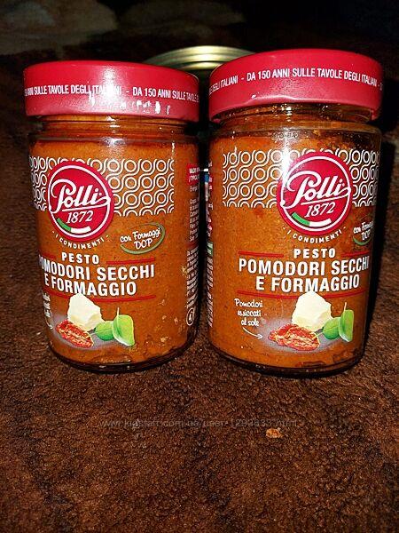 Соус песто для пасты POLLI из вяленых томатов, 190г. Италия