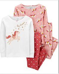 Carters Комплект пижам хлопок для девочки 2Т 3Т 5Т
