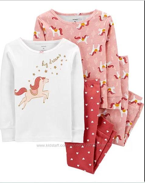 Carters Комплект пижам хлопок для девочки 2Т 3Т 4Т 5Т