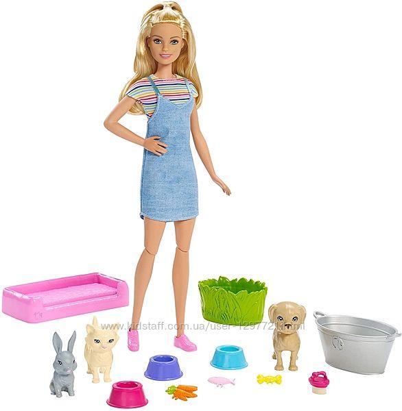 Barbie Барби Играй и купай питомцы