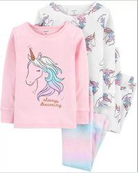 Carters Комплект пижам хлопок для девочки 2Т 3Т