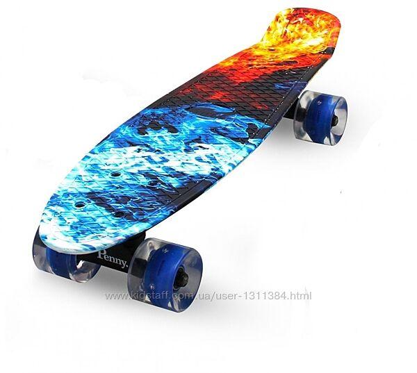 Пенни борды, скейты, Penny в наличии огонь и лёд