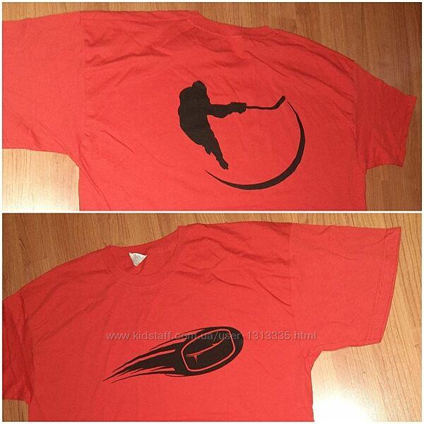 Футболка с логотипом хоккеиста