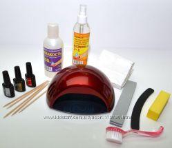 Стартовый набор для наращивания ногтей гель-лаком