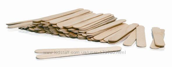 Деревянный шпатель для нанесения воска 100 шт размер 15018 мм