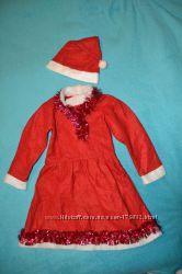 отдам бесплатно детский новогодний костюм красное платье