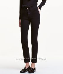 Трендовые кроп джинсы h&m 28 размер синие и черные